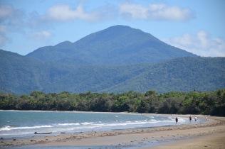 Beach behind resort