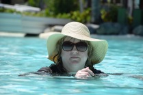 Jules in the pool